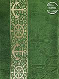 Полотенце махровое 70*140 Якорь зеленый болотный, фото 2