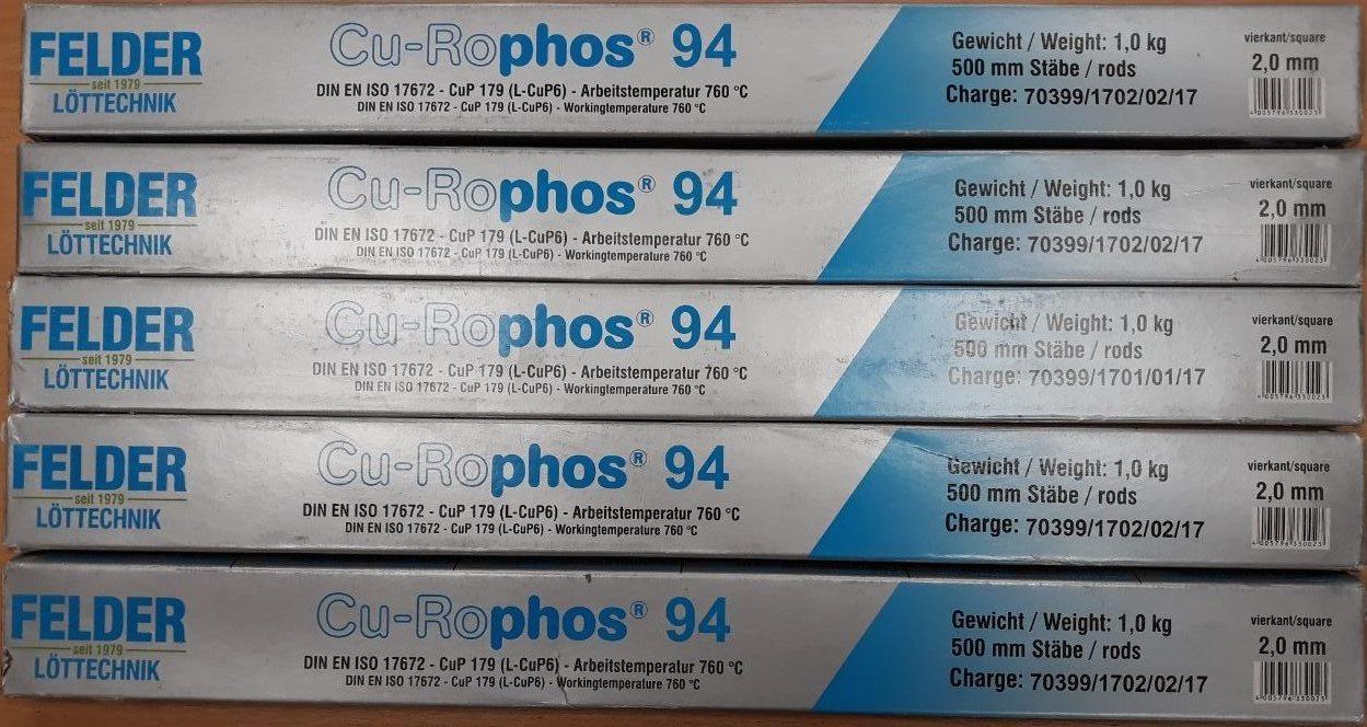 Тугоплавкий медно-фосфорный припой Cu-Rophos® 94