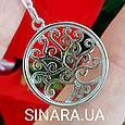 Древо Жизни кулон серебряный женский с фианитами - Подвеска Дерево Жизни родированное серебро 925, фото 4