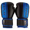 Боксерські рукавиці PowerPlay 3022 Чорно-Сині [натуральна шкіра] 10 унцій, фото 2