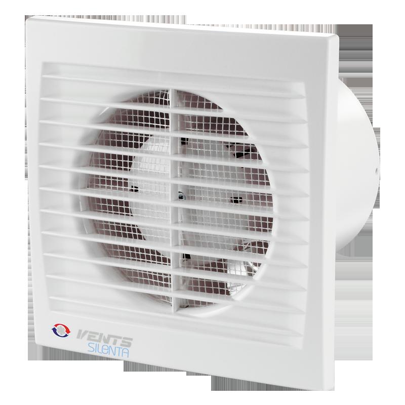 Вентилятор осевой Вентс 125 Силента-С ВТН, таймер, датчик влажности,выключатель, 9,3Вт,148м3/ч, 220В,5лет