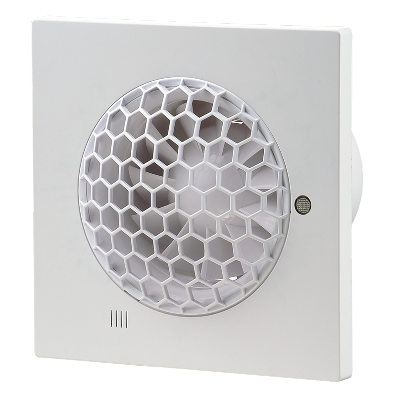 Вентилятор осевой Вентс Квайт-С 100 ВТ, микровыключатель, таймер, вытяжной,7,5Вт, 99м3/ч, 220В, 5лет