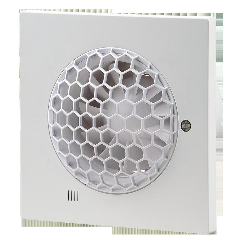 Вентилятор осевой Вентс Квайт-С 100 ВТН, выключатель,таймер,датчик влажности,7,5Вт, 99м3/ч, 220В, 5лет