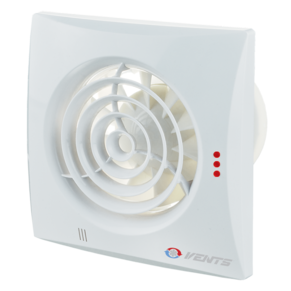 Вентилятор осевой Вентс Квайт 100DC ВТ, микровыключатель, таймер, 3,6Вт, 100м3/ч, 220В, гарантия 5лет