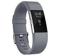 Силиконовый ремешок для фитнес браслета Fitbit Charge 2 - Grey L