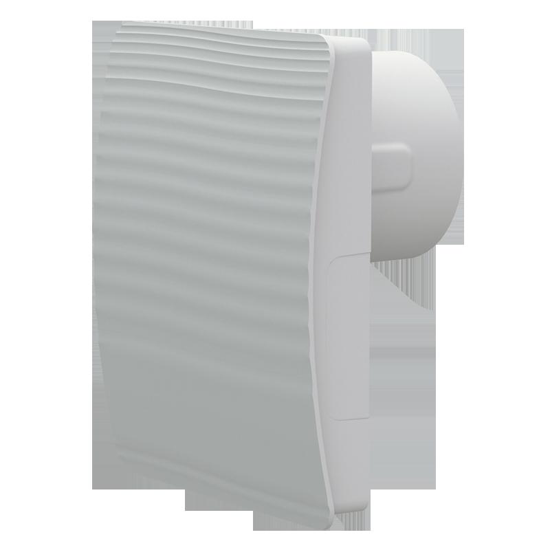 Вентилятор осевой Вентс 100 Стайл ТН, жалюзи, таймер, датчик влажности, 9Вт, 97м3/ч, 220В, гарантия 5лет