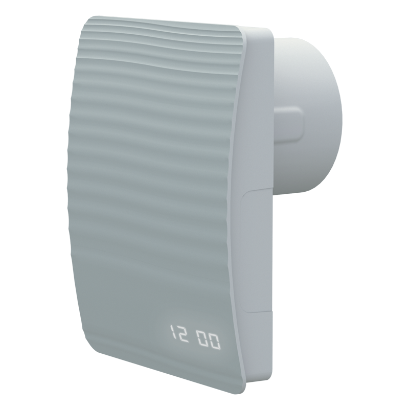 Вентилятор осевой Вентс 100 Стайл Эко, жалюзи, таймер, д-к влажности, часы, Wi-Fi,5Вт,101м3/ч, 220В,5лет