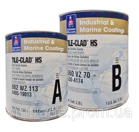 Промышленное покрытие для стали, бетона, 2К, Шервин Вильямс (TILE-CLAD HS) А 3,78 л + В 3,78 л