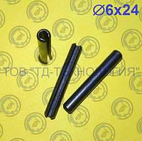 Штифт пружинный цилиндрический Ф6х24 DIN 1481, фото 1