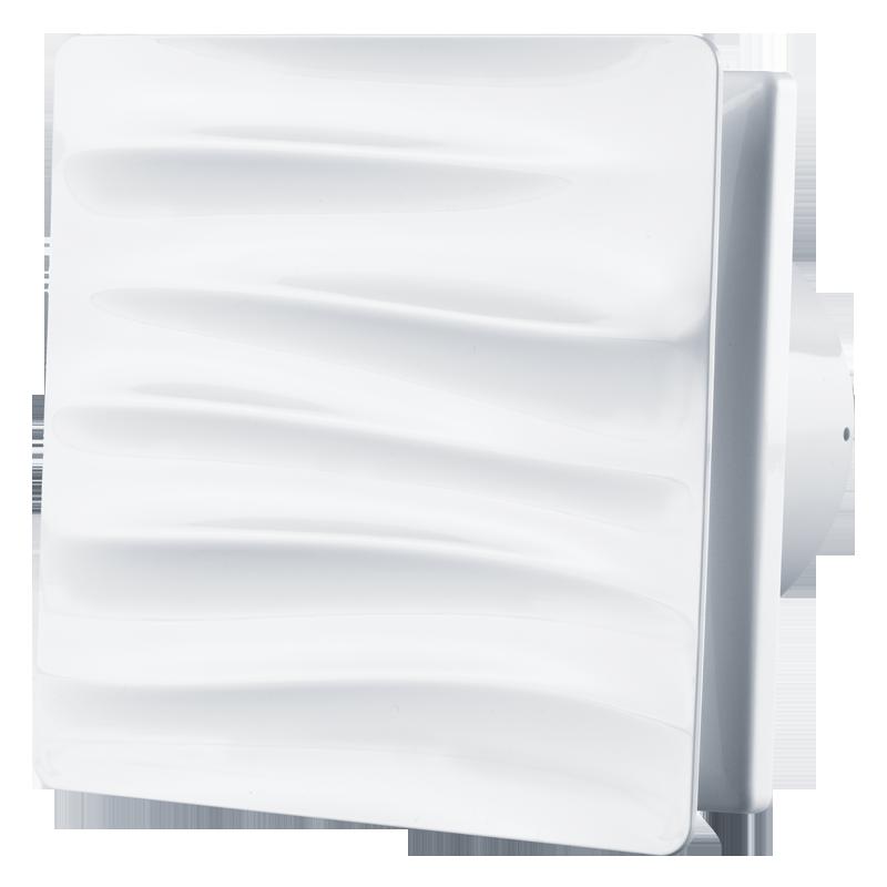 Вентилятор осевой Вентс 100 Вэйв В, микровыключатель, клапан, 7,5Вт, 85м3/ч, 220В, гарантия 5лет