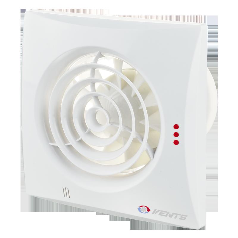 Вентилятор осевой Вентс Квайт-dMEV 100DC ТН, таймер, датчик влажности, 3,4Вт, 83м3/ч, 220В, гарантия 5лет