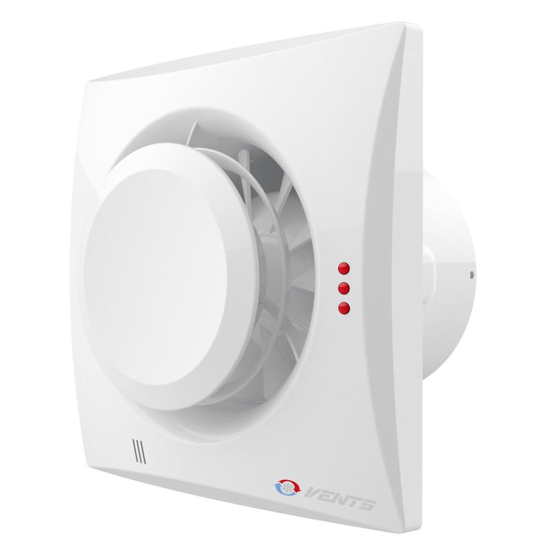 Вентилятор осевой Вентс Квайт-Диск 100 Т, таймер, вытяжной, 7,5Вт, объем 97м3/ч, 220В, гарантия 5лет