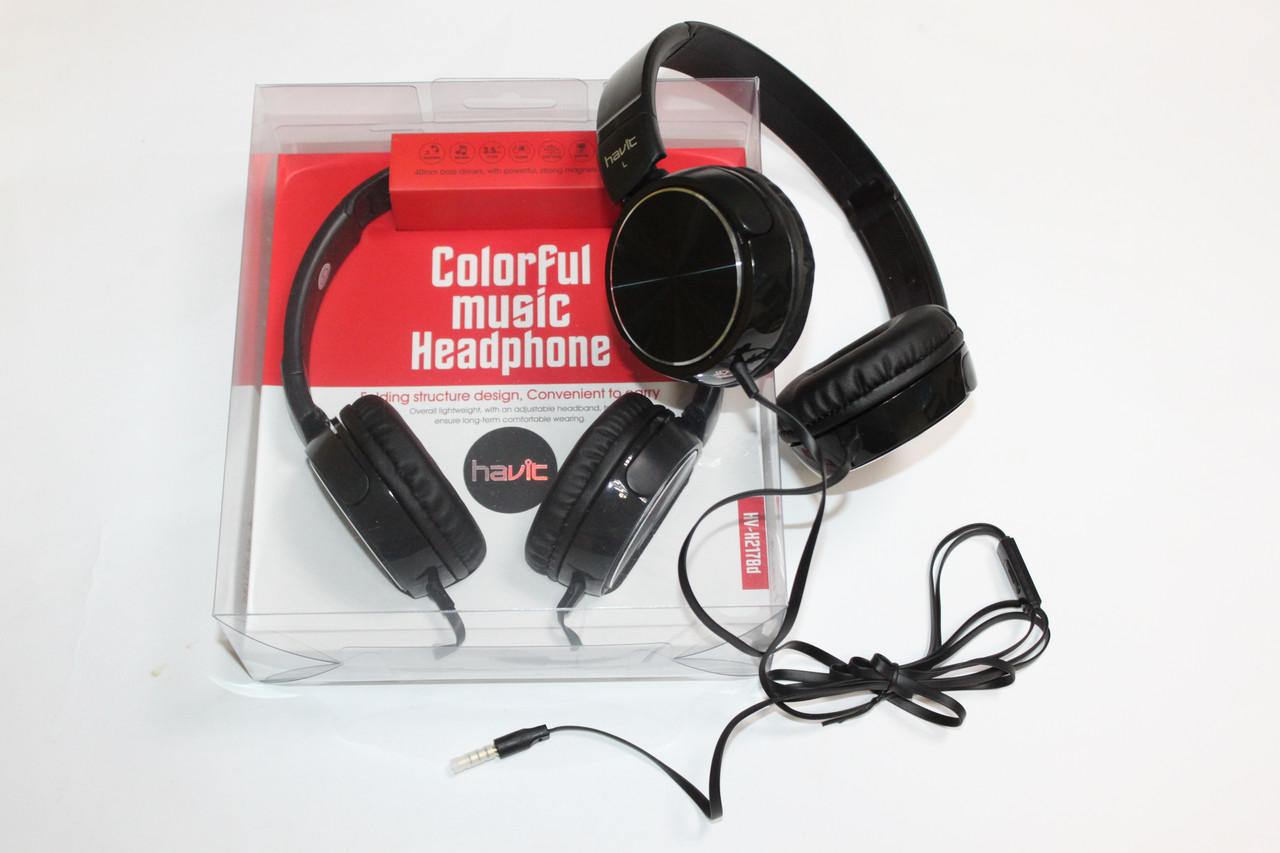 Навушники HAVIT HV-H2178d з мікрофоном Black