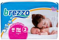 Підгузки дитячі преміум класа Brezzo mini 2 (3-6 кг) 40 шт.