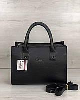 Черная сумка 56104 саквояж матовая деловая, фото 1