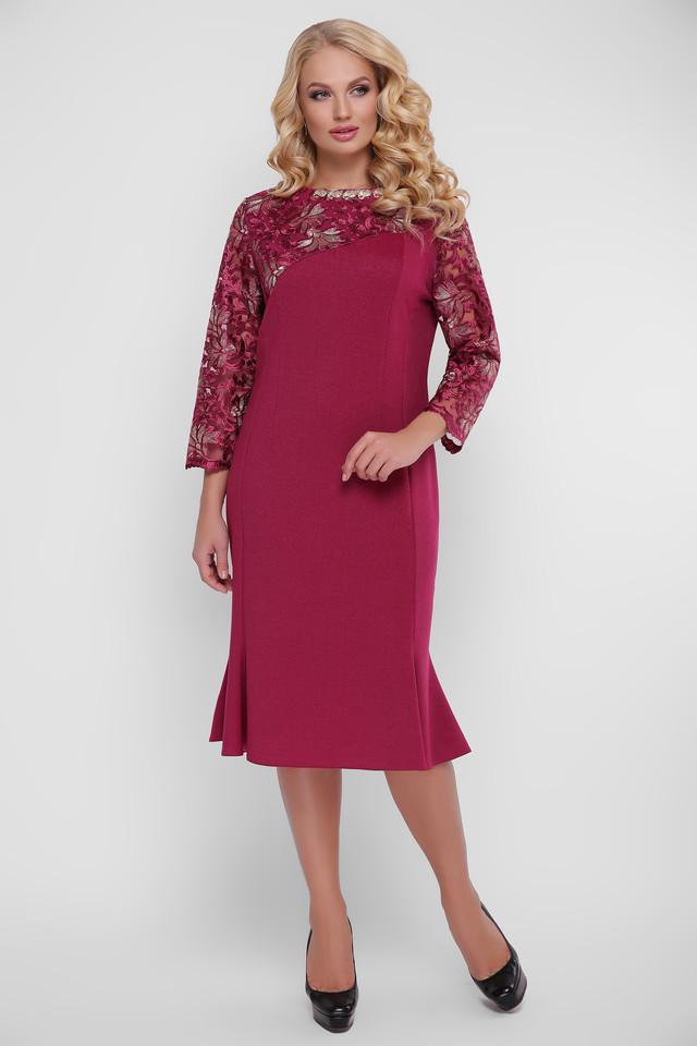 Платье вечернее Анет 52-58 бордо