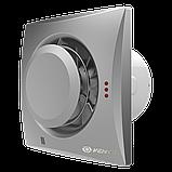 Вентилятор осевой Вентс Квайт-Диск 125 Т, таймер, вытяжной, 17Вт, объем 185м3/ч, 220В, гарантия 5лет, фото 5