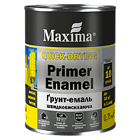 Грунт эмаль Maxima быстросохнущая серая 0,75 кг