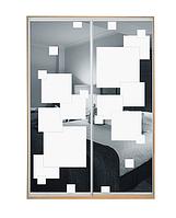 Шкаф-купе Зеркало с рисунком пескоструй двухдверный Классик TM Matroluxe