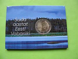 Естонія 2 євро 2018 р. 100 років Естонській Республіці.