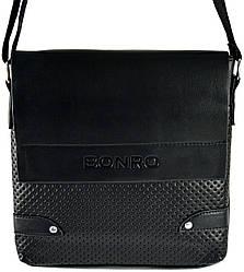 Сумка мужская Bonro через плечо черная Model 2
