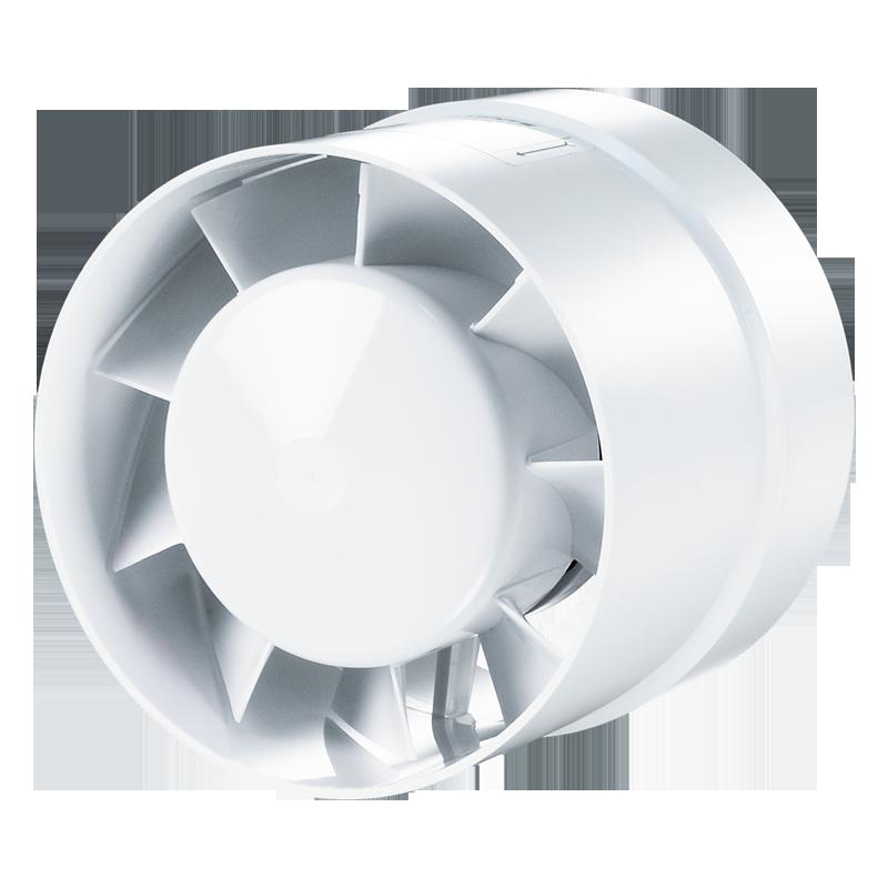 Вентилятор осевой канальный Вентс 125 ВКО турбо, приточно-вытяжной, мощность 24Вт, объем 243м3/ч, 220В, гарантия 5лет
