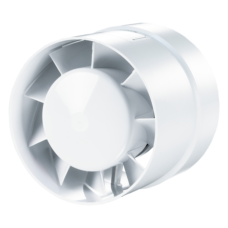 Вентилятор осевой канальный Вентс 125 ВКО пресс, приточно-вытяжной, мощность 24Вт, объем 192м3/ч, 220В, гарантия 5лет