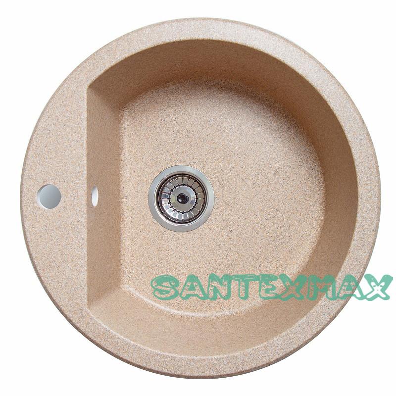 Мийка гранітна для кухні Solid Раунд пісок 51x51