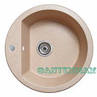 Мойка гранитная для кухни Solid Раунд песок 51x51