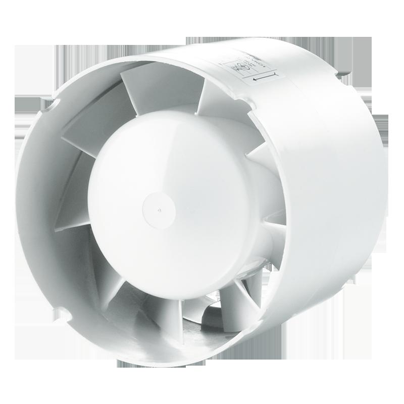 Вентилятор осевой канальный Вентс 100 ВКО1 Т Л пресс, таймер, подшипник, приточно-вытяжной, мощность 16Вт, объем 108м3/ч, 220В, гарантия 5лет