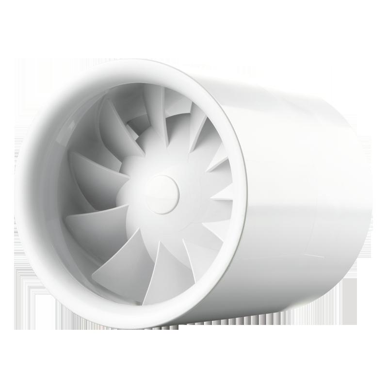 Вентилятор осевой канальный Вентс Квайтлайн 100 12, приточно-вытяжной, мощность 7,5Вт, объем 100м3/ч, 12В, гарантия 5лет