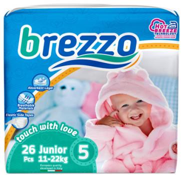 Підгузки дитячі преміум класа Brezzo junior 5 (11-22 кг) 26 шт.