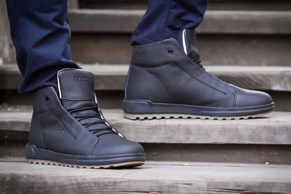 423fc76e9 Мужские кожаные ботинки Ecco , Зима 2018-2019 - Интернет-магазин Обувь-плюс