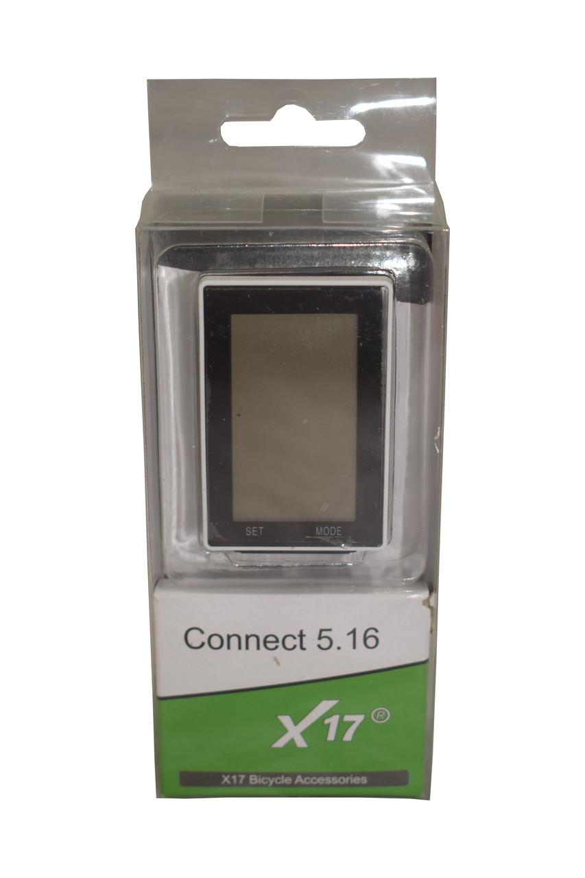 Спидометр велосипедный X-17 Connect 5.16