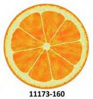 Коврик круглый цветной с рисунком Апельсин