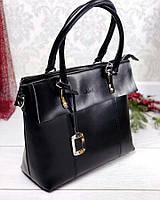 Кожаная сумка в черном KT32283 в стиле Хлоя, фото 1