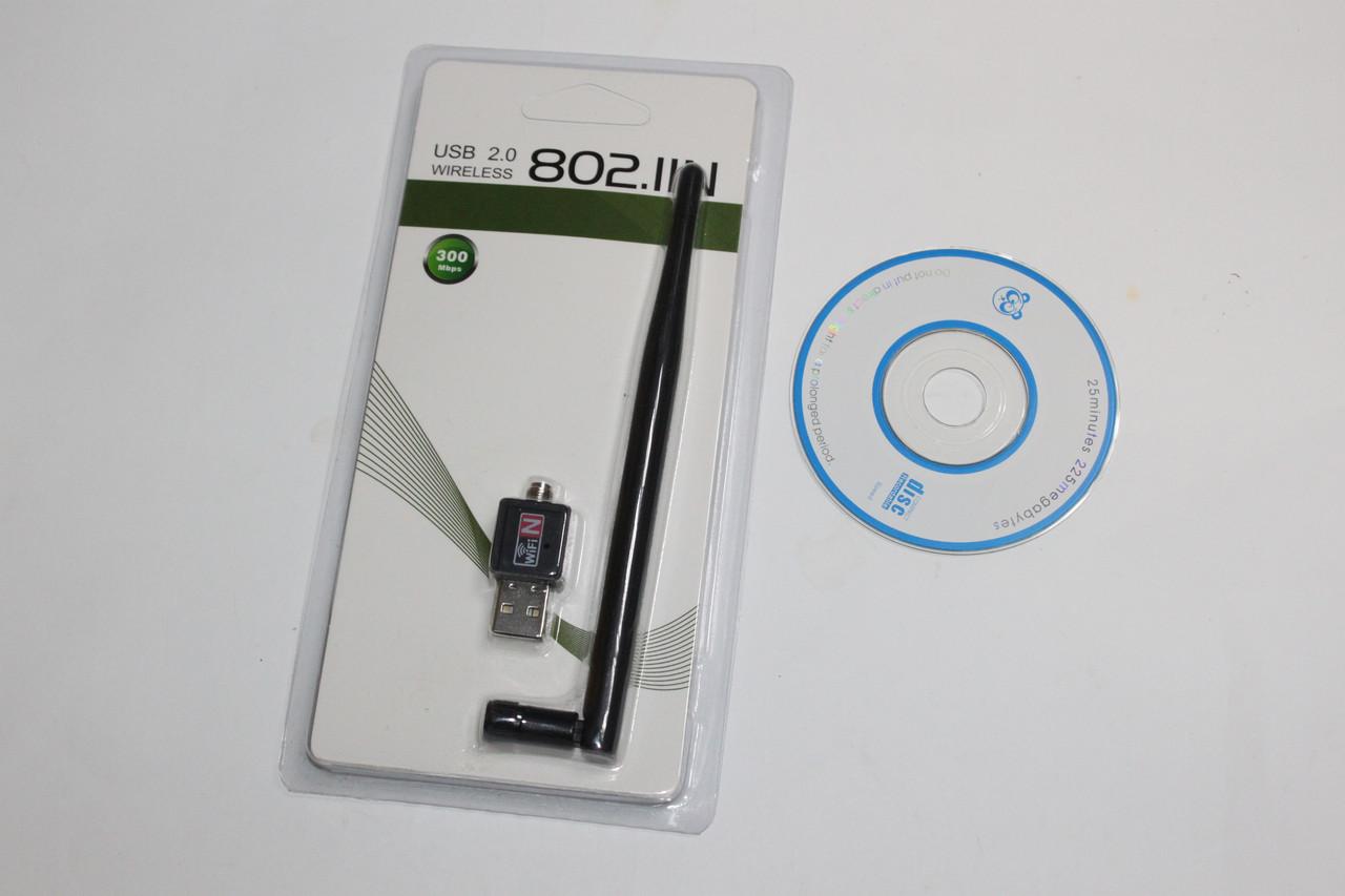 Wi-Fi адаптер USB UW02 с антеной 5db