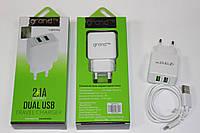 Зарядное устройство GRAND GH-C01 2xUSB 2.1A + Lighting