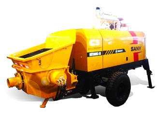 Прицепной бетононасос производительность: 50м3/ч, нагнет. давление 8Мпа