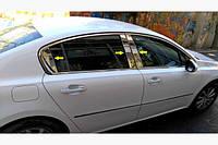 Peugeot 508 2010- Sedan Накладки дверных стоек 6шт