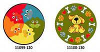 Коврик круглый цветной с рисунком Кошка,Собака, фото 1