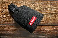 Шапка мужская Supreme. Зимняя стильная шапка . ТОП качество!!! Реплика