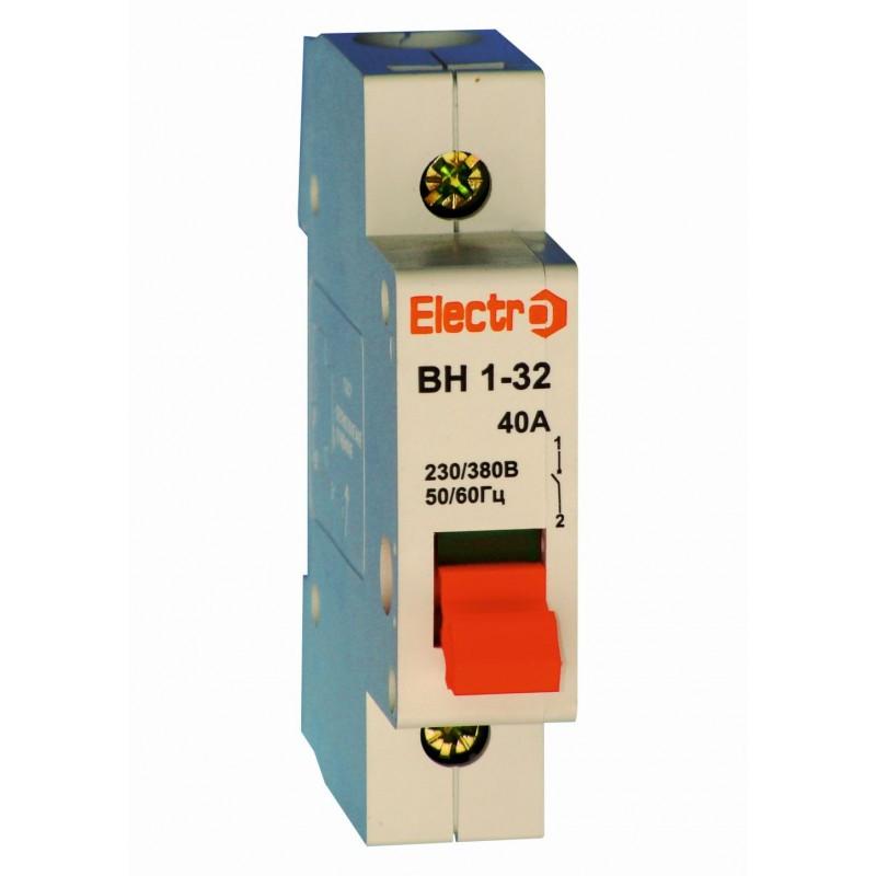 Модульный выключатель нагрузки ВН1-32 1 полюс 20А 230В