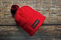 Шапка мужская Supreme. Зимняя стильная шапка. ТОП качество!!! Реплика, фото 1