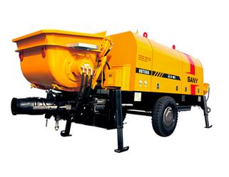 Прицепной бетононасос производительность: 70м3/ч, нагнет. давление 7Мпа