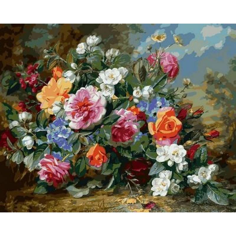 Картина по номерам Роскошные розы VP1049 Babylon Turbo 40 х 50 см