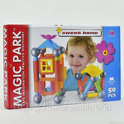 """Магнитный конструктор """"Волшебный парк"""" с крупными деталями, аналог Bondibon Smartmax и """"Magnastix"""" и Bornimago, фото 2"""