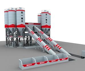 Бетоносмесительная установка производительность 180 м3/ч, емкость 3000л