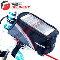 Нарамная сумка для велосипеда, велосумка для смартфона 5.5'' Roswheel