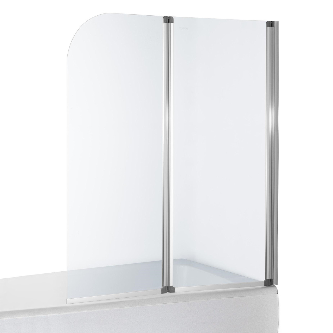 Eger Шторка на ванну 120 см, профиль хром, 599-121CH